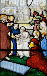 Fig. 2. The Raising of Lazarus, about 1522, Church of St Gwenllwyfo, Llanwenllwyfo, Anglesey
