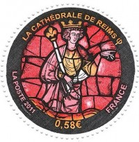 Fig. 4. Reims Cathedral 800th anniversary stamp