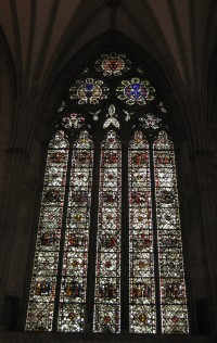 Fig. 2. The St Katherine window (CH nIV), chapter house, York Minster.