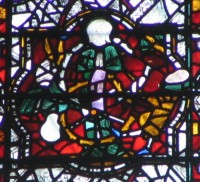 Fig. 3. Katherine tortured on a wheel, chapter house, York Minster