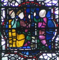 Fig. 4. Maxentius debates with Katherine, chapter house, York Minster.