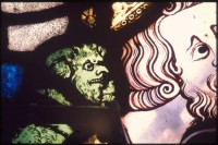 Fig. 5. The devil at Maxentius' ear, Peter de Dene window, York Minster