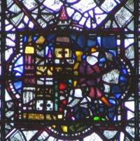 Fig. 6. Maxentius journeying, chapter house, York Minster