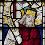 Fig. 2. English or European art? Anglo-Flemish glass painting at the church of St Mary, Fairford, (Glos): The prophet Amos, c. 1500-15.