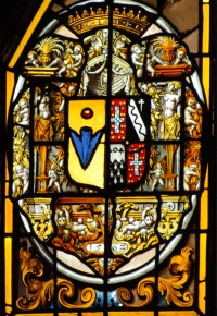 Fig. 4. Mereworth, armorial, dated 1562, but showing the 1583 marriage of Sir Philip Sidney and Frances Walsingham.