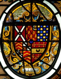 Fig. 9. Arms of Neville of Abergavenny (left).