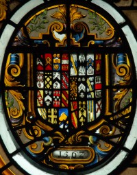 Fig. 10. Arms of Brooke (Lord Cobham) impaling Newton (for Cobham's second wife Frances)