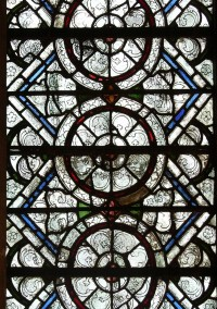 Fig. 7. Decorative grisaille glass, Salisbury Cathedral