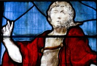 Fig. 1. The Risen Christ: Detail of one of the Lichfield windows.
