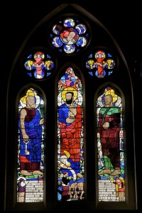 Fig. 2. Church of St Peter, Lampeter: Christ Calling Peter and Andrew, Wilhemina Geddes, 1946.