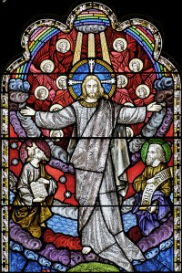Fig. 7. Berriew, Church of St Beuno: the Transfiguration, John Hardman & Co., c.1859.