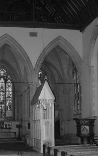 Fig. 6. Reconstructed shrine of St Birinus, Dorchester Abbey.