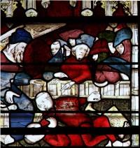 Fig. 13: The blinding of Ralph, St William window, York Minster.