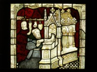 Fig. 14: Pilgrims seeking cures: detail from the St William window, York Minster.