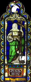 Fig. 2. Church of St. Ann, Brooklyn (now in The Metropolitan Museum of Art, New York): the Personification of Faith, c.1869, by Henry E. Sharp, prior to conservation treatment. (photo: Janis Mandrus)