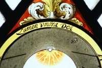 Fig. 5. Motto on Groombridge dial A. (photo © Andrew Rudebeck)