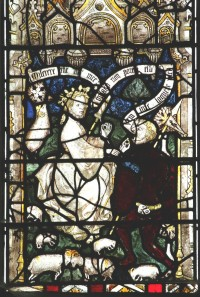 Fig. 1. North Tuddenham, church of St Mary: St Margaret talks to the squire of Olybrius, c.1420–30. (c) M. Dixon
