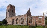 Fig. 2. Ruined church of Wiggenhall St Peter. (c) D. King