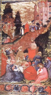 Fig. 4. Frontispiece to Geoffrey Chaucer's Troilus and Criseyde, c.1415–20, Corpus Christi College, Cambridge MS 61