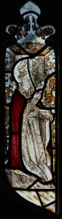 Fig. 5. North Tuddenham, church of St Mary: bishop saint, c.1420–30. (c) M. Dixon