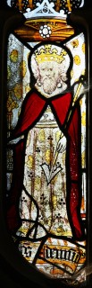 Fig. 7. North Tuddenham, church of St Mary: St Edmund, king and martyr, c.1420–30. (c) M. Dixon
