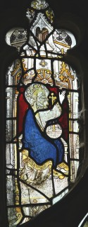 Fig. 10. North Tuddenham, church of St Mary: God the Father from the Coronation of the Virgin, c.1420–30. (c) M. Dixon