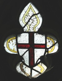 Fig. 14. North Tuddenham, church of St Mary: shield with the arms of St George, c.1420–30. (c) M. Dixon