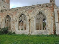 Fig. 16. Wiggenhall, church of Wiggenhall St Peter: windows of demolished south aisle reused as south nave windows. (c) M. Dixon