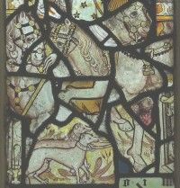 Fig. 17. North Tuddenham, church of St Mary: fragments from the life of St George series, c.1420–30. (c) M. Dixon