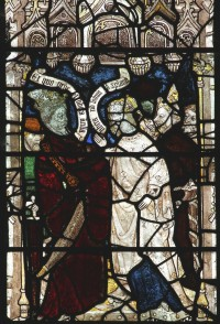 Fig. 18. North Tuddenham, church of St Mary. St Margaret talking to Olybrius, c. 1420-c. 1430. Photo M. Dixon