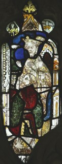 Fig. 21. North Tuddenham, church of St Mary: Olybrius and his squire, c.1420–30. (c) M. Dixon
