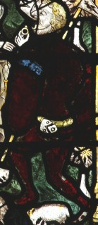 Fig. 23. North Tuddenham, church of St Mary, detail of fig. 1: shield with arms of John Glemham, c.1420–30. (c) M. Dixon