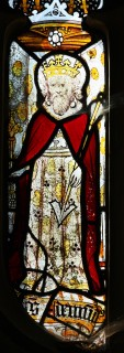 Fig. 26. North Tuddenham, church of St Mary: St Edmund, king and martyr, c.1420–30. (c) M. Dixon