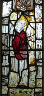 Fig. 27. North Tuddenham, church of St Mary: St Martin of Tours, c.1420–30. (c) M. Dixon