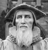 Fig. 1. Statue of Richard Hooker at Exeter Cathedral.