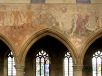 Fig. 3. Wall-painting of the Three Living and the Three Dead, church of St Peter, Raunds, Northamptonshire.