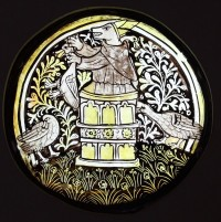 Fig. 1. One of the treasures on display at the Stained Glass Museum: an English medieval roundel of Reynard the Fox, early fifteenth-century.