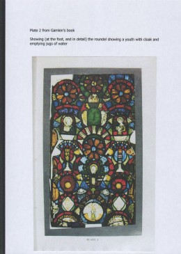 Fig. 4. The glass at Chicksands Priory: the second colour plate from Gamlen's book.