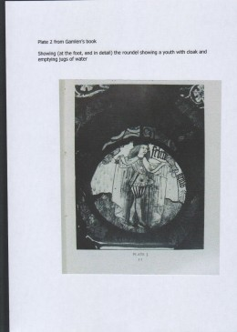 Fig. 6. The glass at Chicksands Priory: image of the February roundel from Gamlen's book.