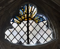 Fig. 1. Glory in the tracery of the 'Trinity Window' in the north transept.