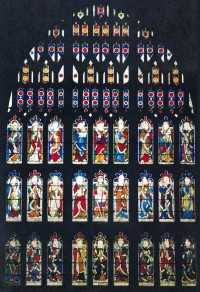 Fig. 1. Sherborne Abbey, former west window.