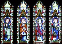 Fig. 2. Sherborne Abbey north aisle window (nIX), showing almost total paint loss.