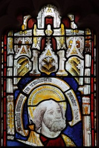 Fig. 2. St Jude from Westwood Church (Wiltshire), one of the panels exhibited by Pitcher (modern photograph).