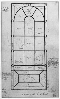 Fig. 5. Inventory sketch made by George Bailey in 1837, annotated with later damages. Image courtesy Soane Museum