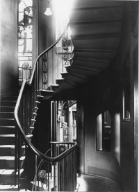 Fig. 6. Photograph of the main staircase by Walter Spiers, 1911; 'Charity' can be seen in the Shakespeare Recess. Image courtesy Soane Museum