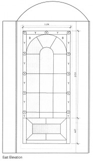 Fig. 11. Architect's drawing of the Tivoli Recess, east elevation. Image courtesy Julian Harrap Architects