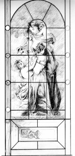 Fig. 16. Design sketch of the complete window. Image courtesy Jonathan Cooke