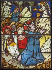 Fig. 2. Agony in the Garden panel, from the Life of Christ and the Virgin window, Burrell Collection.