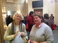 Fig. 2. Dr Penny Hebgin-Barnes, author of no fewer than three Summary Catalogues in the British CVMA series, and Brigid Hamilton-Jones, Publications Officer of the British Academy.