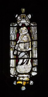 Fig. 6. St Christopher in the west window.